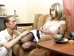 Kinky first-timer tramp gets his penis stiff